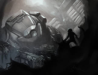 The Discovery - Early Game Concept art by Sopeh