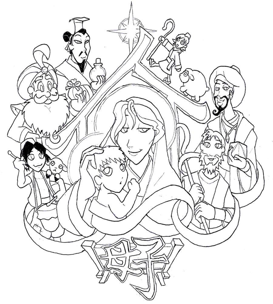 Nativity Tattoo by Tyrranux
