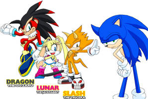 Sonic Characters by Tyrranux