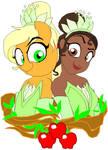 Tiana and Applejack