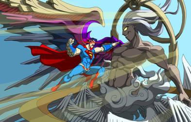 Superman VS Safer Sephiroth by Tyrranux