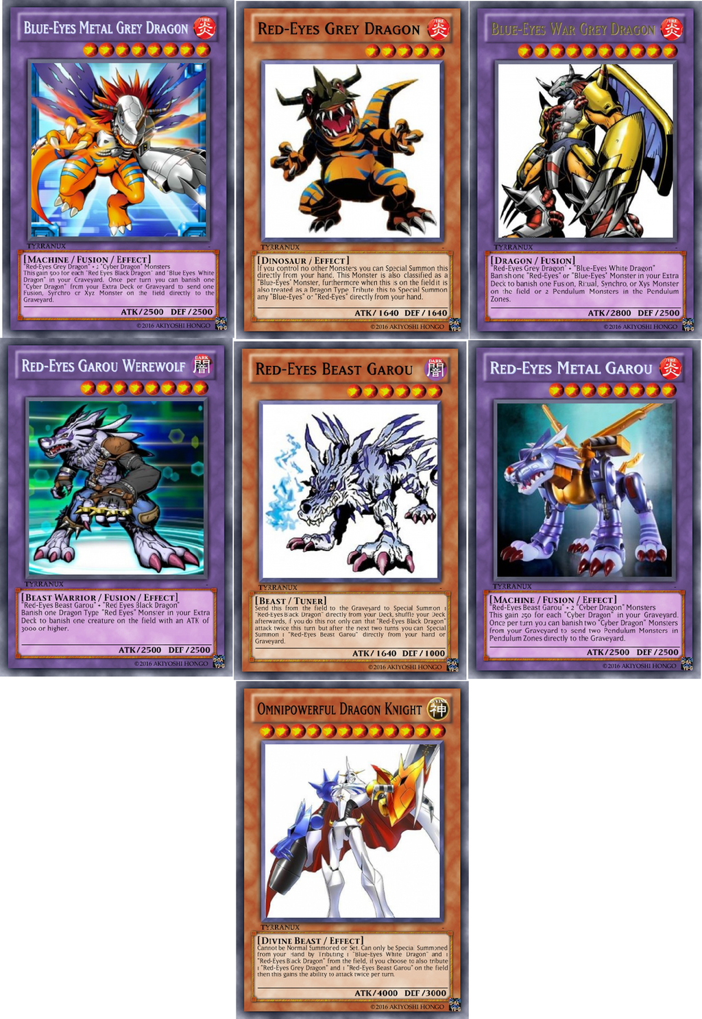 shitty custom yu gi oh red and blue eyes support by tyrranux on