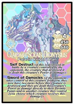 Titan Clash Claiomh Solais Dionysius