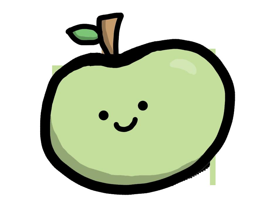 Cute apple by Miki-Amu on DeviantArt