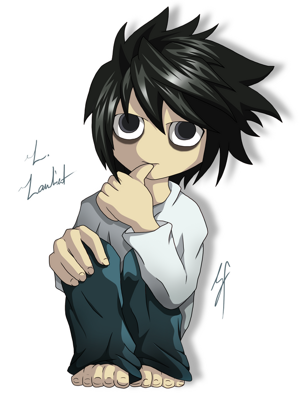 Chibi L. Lawliet by Gem-n-Ems on DeviantArt