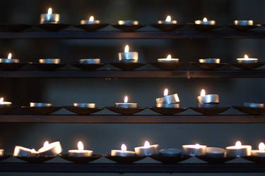 Candle in the row