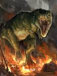 Obligatory Pet T-rex commission by Travis-Anderson