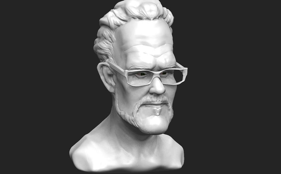 Cartoony teacher sculpt by Travis-Anderson