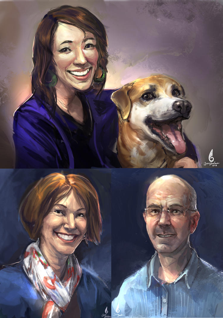 commission: Christmas family portraits. by Travis-Anderson