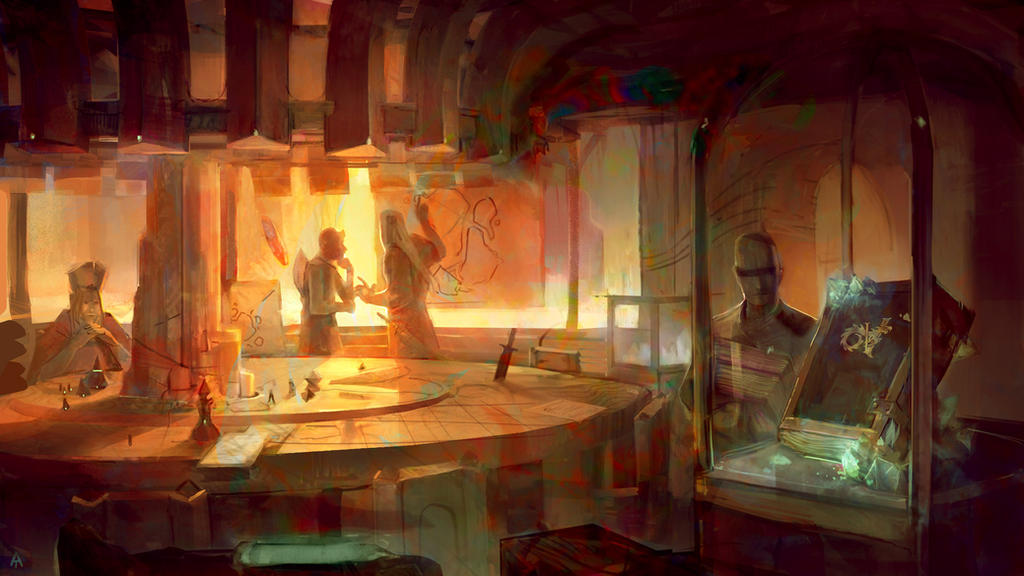 Volfyirion: command room by Travis-Anderson