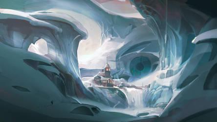 Icy gaze
