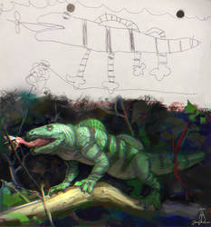 Day8:Lizard redraw