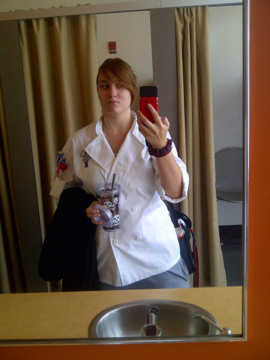 Me Getting Ready for class - uniform and all by KMKramer44