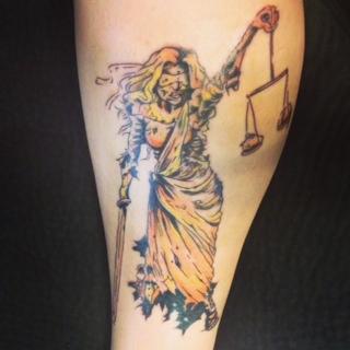 Zombie Lady Justice by KMKramer44