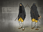 Character Design - Female Muslim Shaolin Acolyte