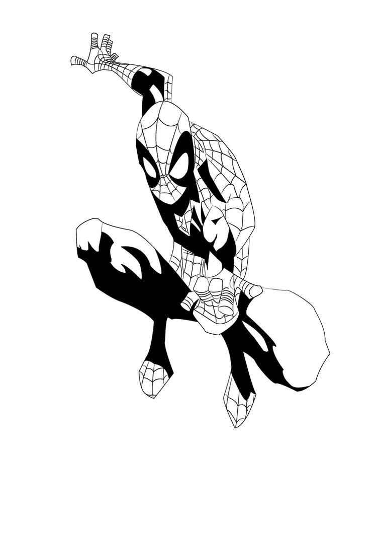spiderman black n white by ravishingdevil on DeviantArt
