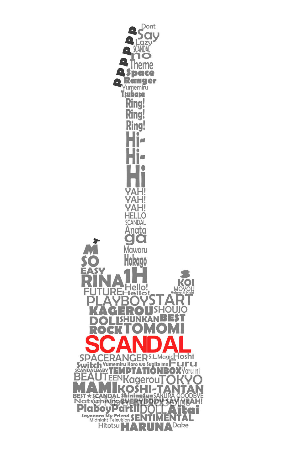 SCANDAL Guitar Typography by NiveumDiabolus