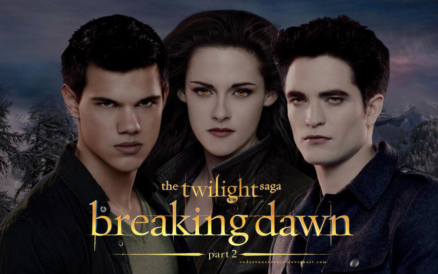Breaking Dawn part 2 - Jacob, Bella and Edward by ... Bella And Edward Breaking Dawn Part 2 Cover Photo