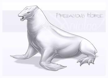 Predacious Horse by AniutqaART