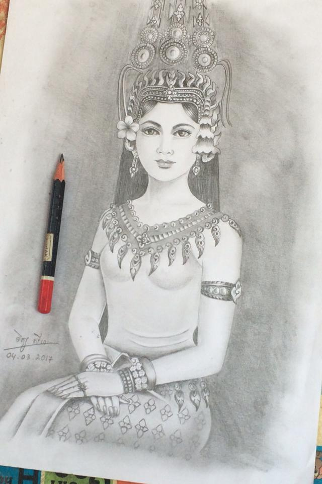 Khmer Apsara fairy girl by chandaraloveu