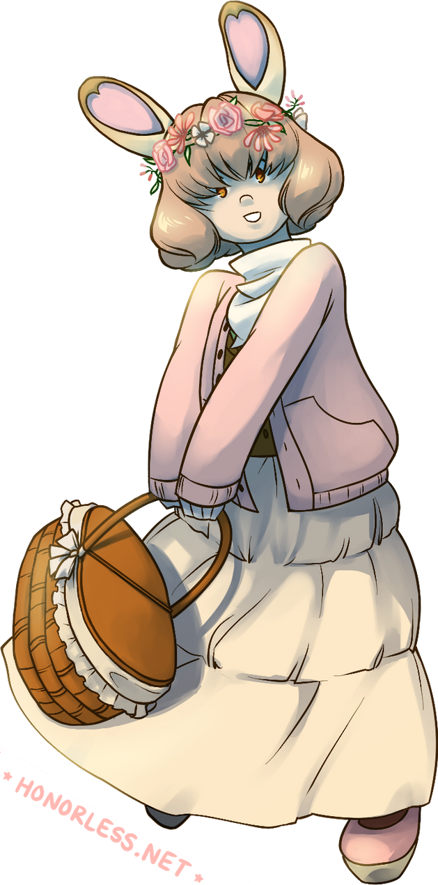 spring bunny by honorless