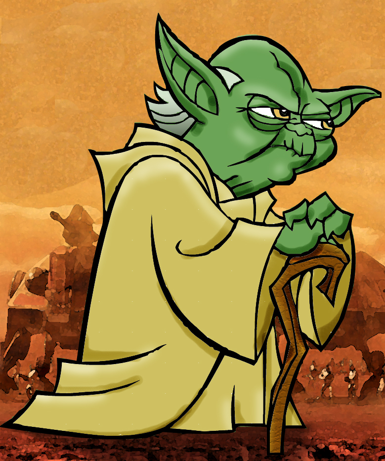Line Art Yoda : Yoda colored line art by askgriff on deviantart