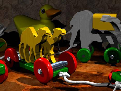 Wooden Toys: 3D Rendering in Rhino