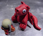 Baby Red Dragon and Crystal Ball by AskGriff