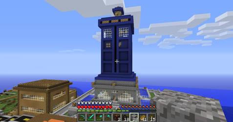 Giant TARDIS Monument / House