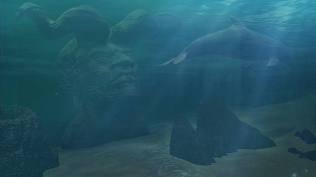 Ancient Evil: A statue in the Ocean