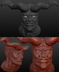 Satan: Rendered in Sculptris