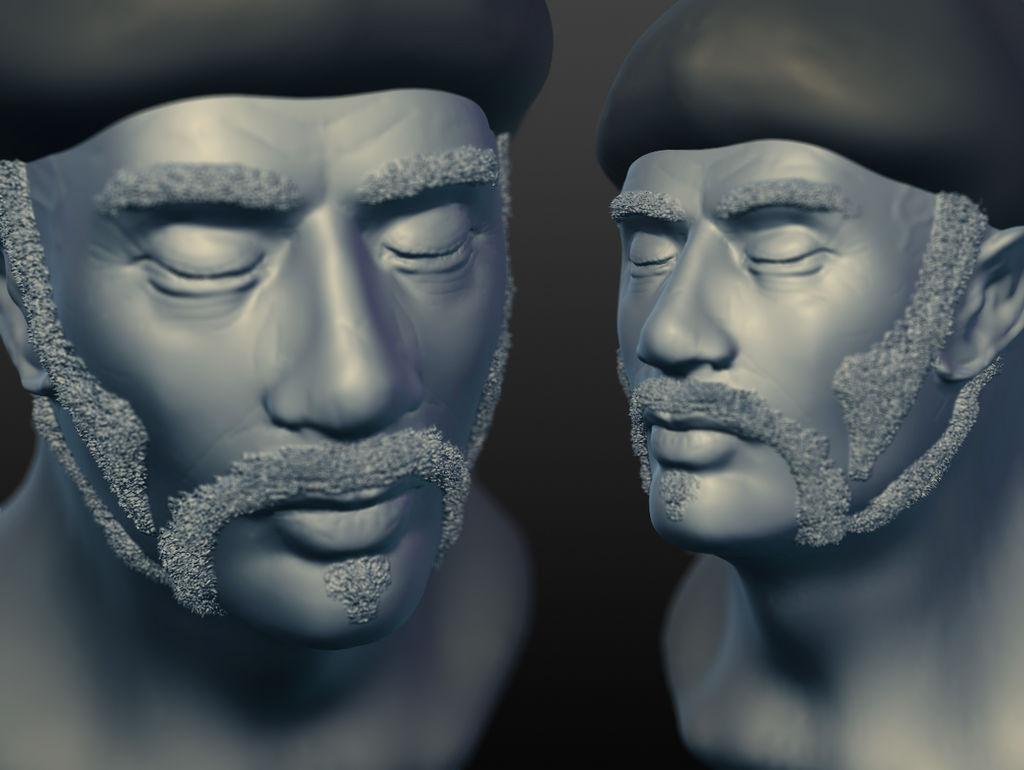 Colonel Johnson, Green Beret (Sculptris Model)