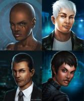 Cyberpunk Characters by ianllanas