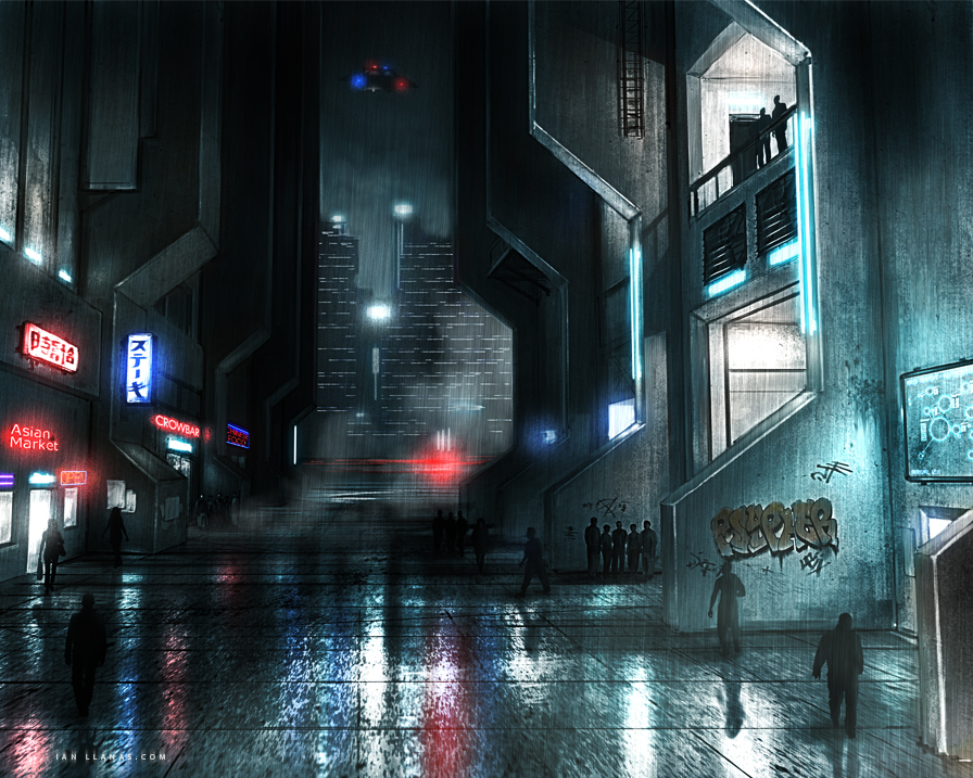 Neo Noir Street by ianllanas