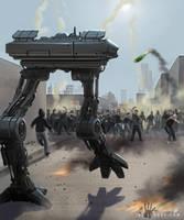 Riot Control Mech by ianllanas