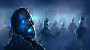 The Blue Plague by ianllanas