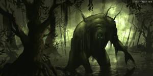Swamp Creature by ianllanas