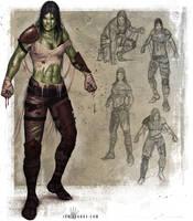 Half Orc Brawler by ianllanas