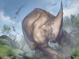 Charging Behemoth by ianllanas