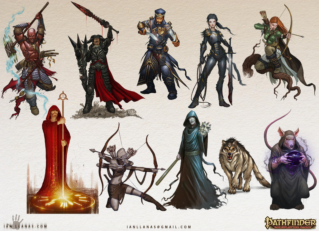 Pathfinder Characters by ianllanas