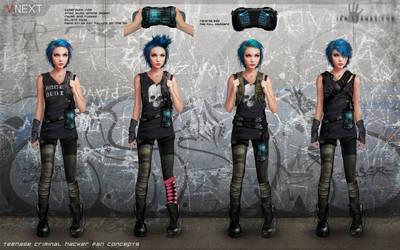 Teen Hacker concept art by ianllanas