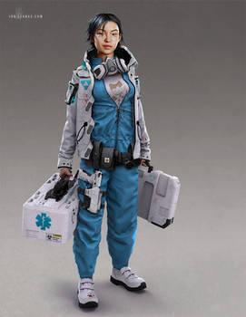 Cyberpunk Field Medic
