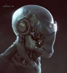 Cyborg Face sketch by ianllanas