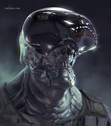 Cyborg Face sketch 2 by ianllanas