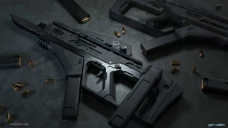 Union Submachine Gun - gen:LOCK by ianllanas