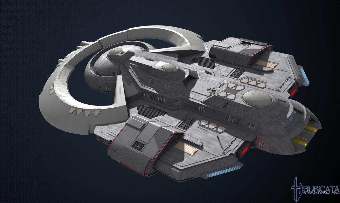 Cern class starship by SuricataFX