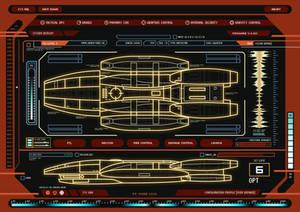 Battlestar Galactica System Display