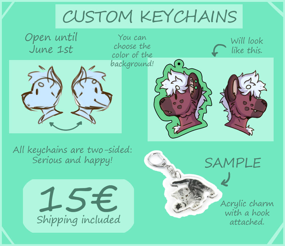 Custom Keychain Commissions (CLOSED) by SonjaTheBird on DeviantArt