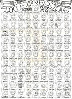 100 Expressions by Izanethex