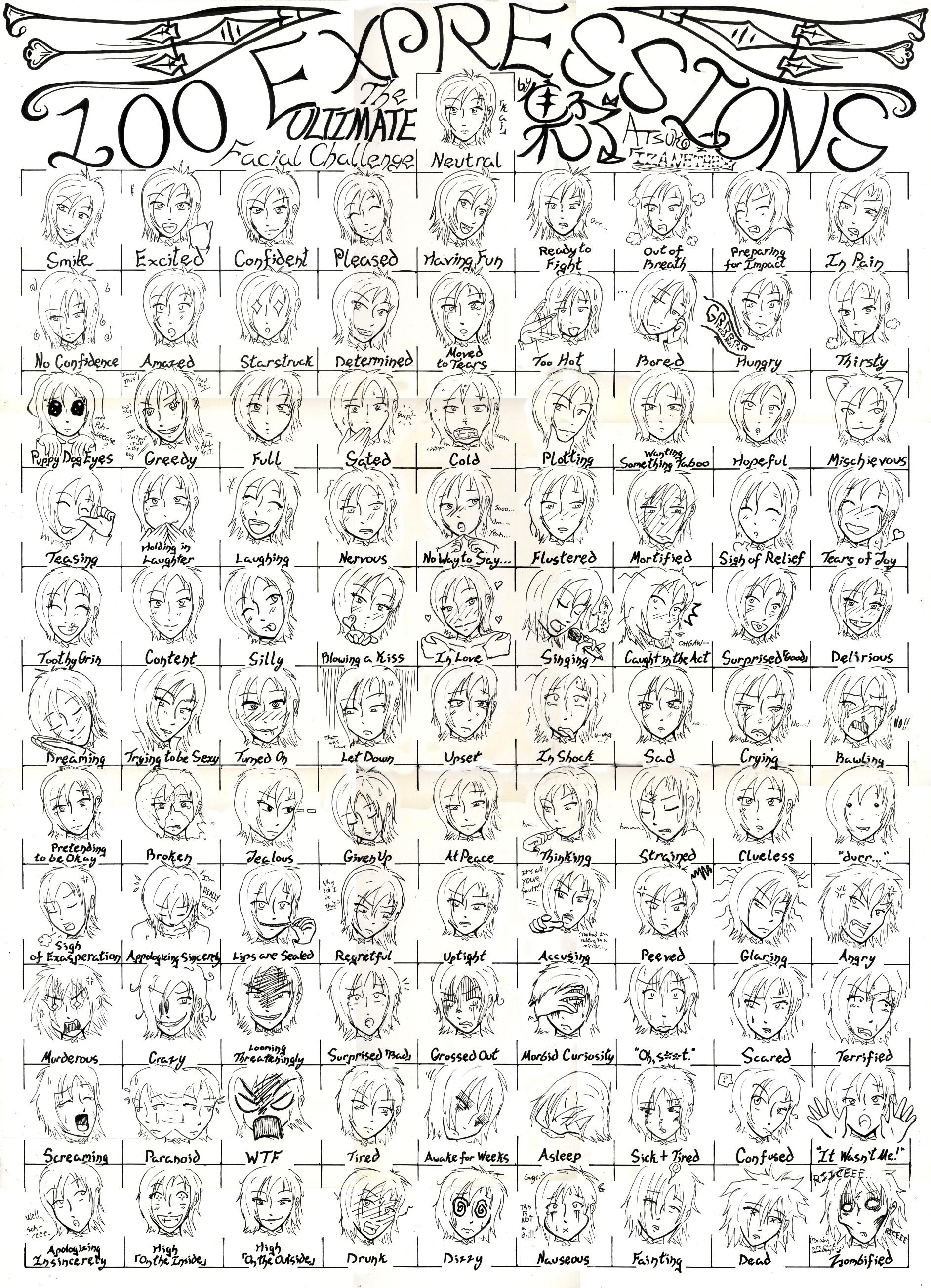 ... free Chibi Expressions Chart ...